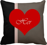 Tiedribbons Her Graphic, Geometric, Printed, Self Design, Floral Cushions Cover (1, 40 Cm*40 Cm)