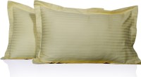 LNT Striped Pillows Cover Pack Of 2, 43.2 Cm*69 Cm, Yellow