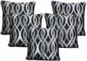 Dekor World Ogee Zari Collection Cushions Cover - Pack Of 5 - CPCDWYYRHFNZ7NEQ