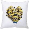 StyBuzz Minnion Heart (12x12) Cushions Cover - Pack Of 1