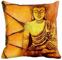 Mesleep Buddha Digitally Printed Cushions Cover (Pack Of 1)