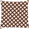 Snoogg Chequered Pattern Design 1593 Throw Pillows 16 X 16 Inch Cushions Cover - Pack Of 1