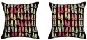 "SEJ By Nisha Gupta HD Digital Print Silk 16"" By 16"" Cushion Cover. Cushions Cover - Pack Of 2"
