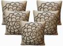 Dekor World Cotton Velvet Roses Collection Cushions Cover - Pack Of 5 - CPCDWYYRFZUEBP5U