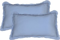 Furnishia Plain Pillows Cover (Pack Of 2, 45.72 Cm*68.58 Cm, Blue)