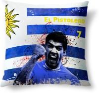 ShopMantra Luis Su?rez Uruguay Football Printed Cushions Cover (Cushion Pillow Cover, 40.64 Cm*40.64 Cm)