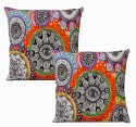 Dekor World World Eye Cushions Cover - Pack Of 2