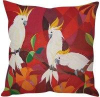 StyBuzz Red Parrot Abstract Art (12x12) Cushions Cover (Pack Of 1)