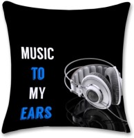 Shoprock Music To My Ears Abstract Cushions Cover (Cushion Pillow Cover, 40.64*40.64)