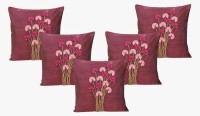 Dekor World Floral Loop Collection Floral Cushions Cover (Pack Of 5, 40*40)