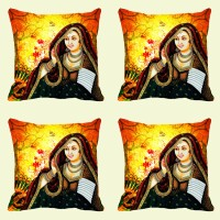 Mesleep Rani Digitally Printed Cushions Cover (Pack Of 4)