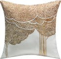 13 Odds 13 Odds Bodhi Tree Embroidered, White & Copper Cushion Cushions Cover - Pack Of 1