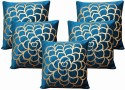 Dekor World Cotton Velvet Roses Collection Cushions Cover - Pack Of 5 - CPCDWYYRCVZAKQZS