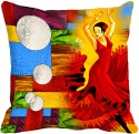 MeSleep Moon Girl Digitally Printed Cushions Cover - Pack Of 1