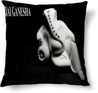 Amy Jai Ganesha Worship Abstract Cushions Cover (40.64 Cm*40.64 Cm, Multicolor)