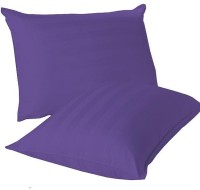 LNT Linen Striped Cushions, Pillows Cover (Pack Of 2, 43.2 Cm*69 Cm, Purple)