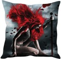 StyBuzz Rde Hair Warrior Girl Cushions Cover - Pack Of 1