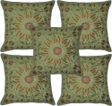 Lal Haveli Handmade Embroidered Cushions Cover - Pack Of 5 - CPCDY49AFZGZURKF