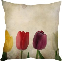 StyBuzz Tulips (12x12) Printed Cushions Cover (30 Cm*30, Multicolor)