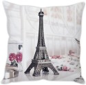StyBuzz Eiffel Tower (12x12) Cushions Cover - Pack Of 1