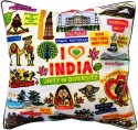 Eco Corner White India Cushions Cover - Pack Of 1