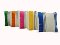 Home Shine Velvet Stripes Striped Cushions Cover (Pack Of 5, 40 Cm*40, Multicolor)