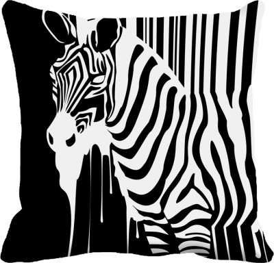 MeSleep Zebra Digitally Printed Cushions Cover - Pack Of 1