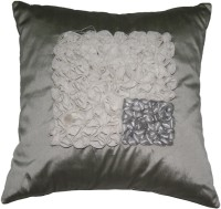 Homewards Grey Square Floral Floral Cushions Cover