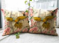 Vivora Homes Digital Printed Bird Paradise Printed Cushions Cover (Pack Of 2, 40*40) - CPCE32FRPMH8KSB6