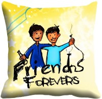 MeSleep Friend Forever Digitally Printed Cushions Cover (40.64 Cm*40.64 Cm, Multicolor)
