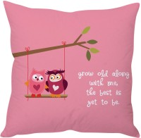 StyBuzz Grow Old Along Love Quote Printed Cushions Cover (Cushion Pillow Cover, 40 Cm*40 Cm)