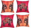 "SEJ By Nisha Gupta HD Digital Print Silk 16"" By 16"" Cushion Cover. Cushions Cover - Pack Of 4"