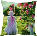 StyBuzz Little Girl Painting (12x12) Cushions Cover - Pack Of 1