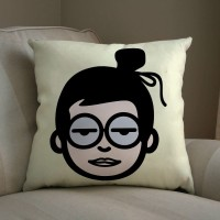 Shoprock Cool Glasses Girl Abstract Cushions Cover (Cushion Pillow Cover, 103.2256*103.2256)