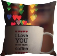 StyBuzz I Love You More Than Coffee Printed Cushions Cover (Cushion Pillow Cover, 40 Cm*40 Cm)
