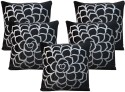 Dekor World Cotton Velvet Roses Collection Cushions Cover - Pack Of 5 - CPCDWYYRWDYG3T8H