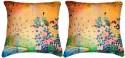 Belkado Digital Print - Pair Of Peacock-II Cushions Cover - Pack Of 2