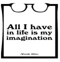 Snoogg All I Have Is A Life Of Imagination 2815 Throw Pillows 16 X 16 Inch Cushions Cover - Pack Of 1