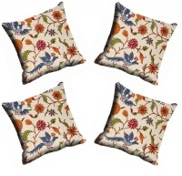 MeSleep Multi Flower Cushions Cover (Pack Of 4)