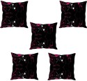 StyBuzz Black Floral Abstract Cushions Cover - Pack Of 5