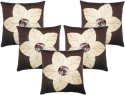 Zikrak Exim Laser Flower Cushions Cover - Pack Of 5