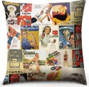 Calmistry Vintage Ads Cushions Cover - Pack Of 1
