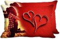 Mesleep Hug Pair Heart Digitally Printed Pillows Cover - Pack Of 2