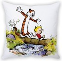 StyBuzz Calvin And Hobbes Cushion Cover Cushions Cover - Pack Of 1