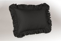 Hothaat Plain Pillows Cover Pack Of 2, 27 Cm*3 Cm, Black