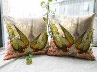 Vivora Homes Digital Printed Bird Paradise Printed Cushions Cover (Pack Of 2, 40*40)