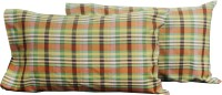 Milano Home Checkered Pillows Cover Pack Of 2, 48 Cm*76 Cm, Multicolor