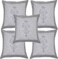 Lal Haveli Attractive Border Design Sanganeri Block Print Cotton Jaipuri Pillow Cover Printed Cushions Cover (Pack Of 5, 41*41)