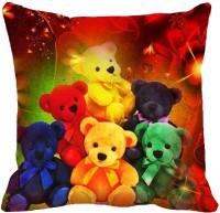MeSleep Teddy Bears Digitally Printed Cushions Cover (Pack Of 1)