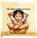 Snoogg Wonder Woman Empowerment Throw Pillows 16 X 16 Inch Cushions Cover - Pack Of 1